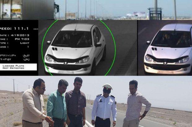 فعال شدن دوربین های ثبت تخلف جاده ای در محور بم-کرمان