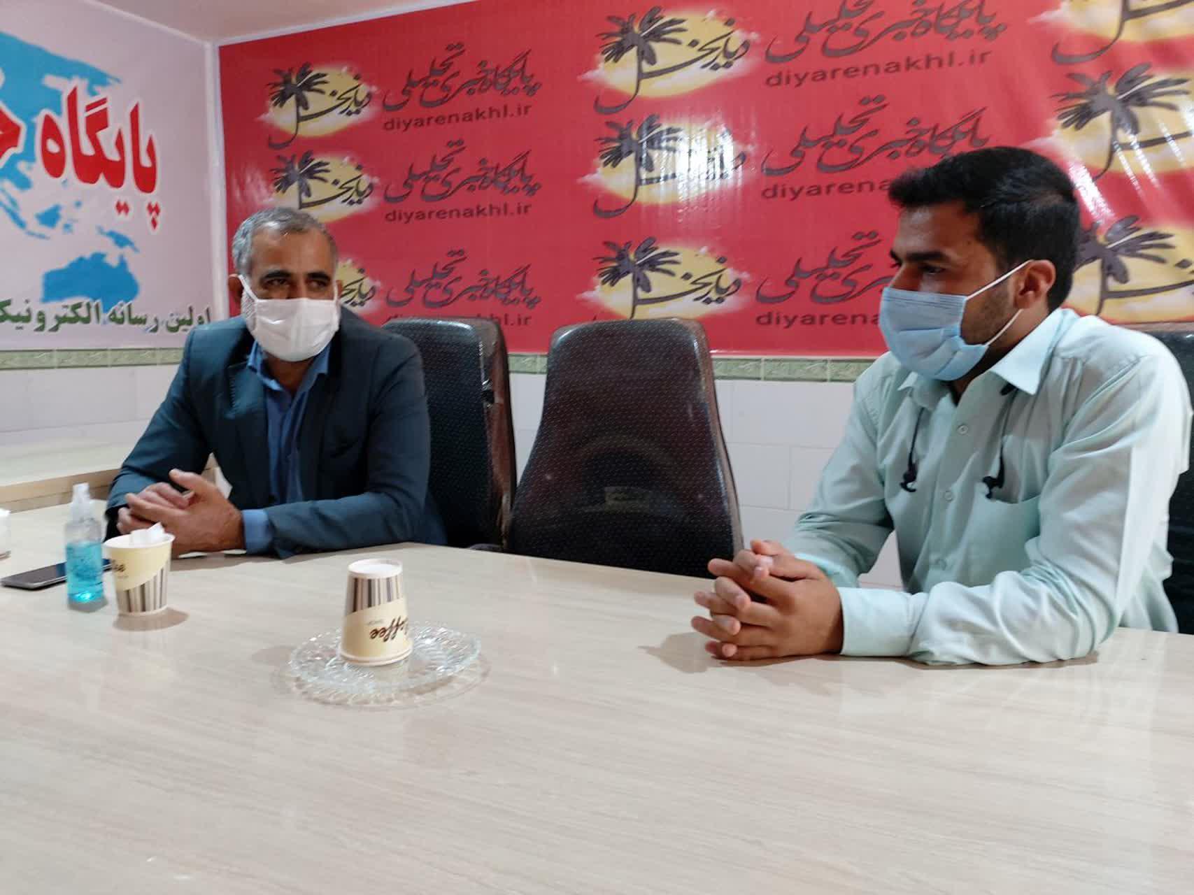 بازدید رئیس کمیته امداد امام خمینی (ره) و مسئول زکات شهرستان ریگان از دفتر پایگاه خبری دیار نخل
