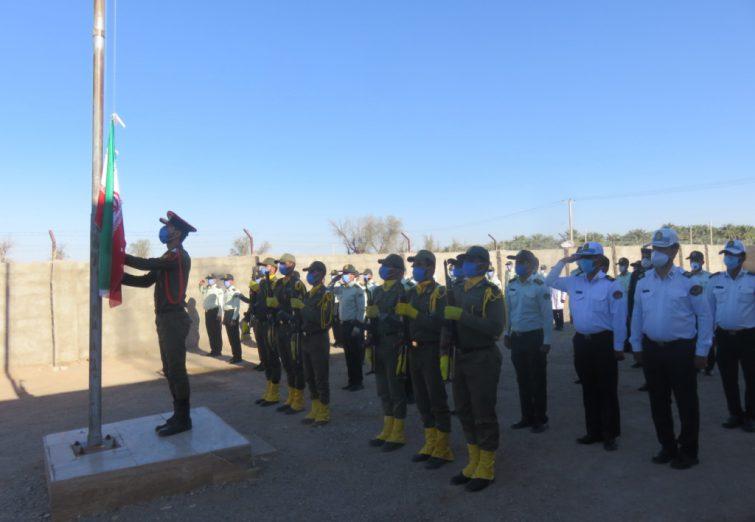 مراسم صبحگاه عمومی به مناسبت هفته نیروی انتظامی