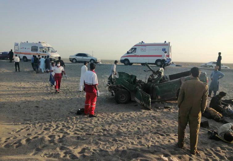 تصادف مرگبار در محور ریگان-ایرانشهر