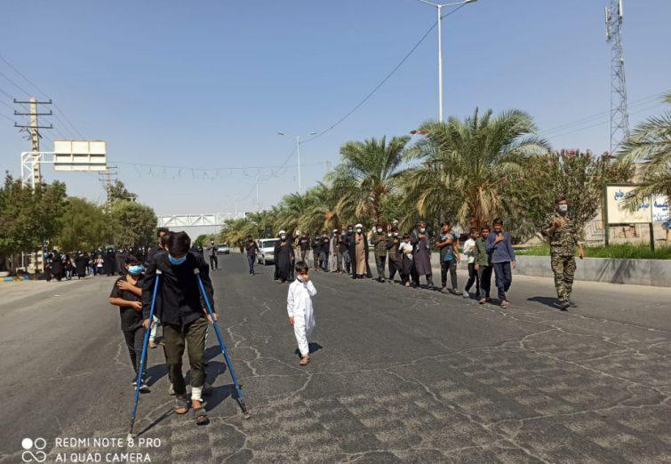 پیادهروی جاماندگان اربعین حسینی (ع) در ریگان
